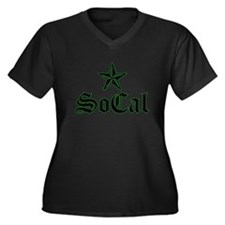 So cal Women's Plus Size V-Neck Dark T-Shirt