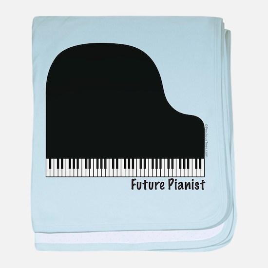 Future Pianist baby blanket
