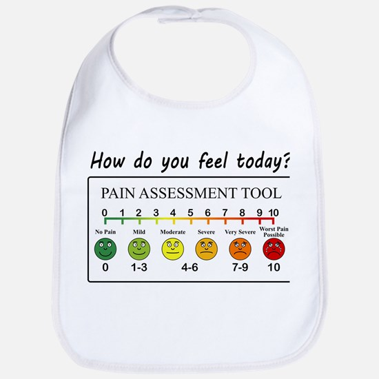 Pain assessment chart humor. How do you f Baby Bib