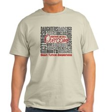 Family Square Brain Tumor T-Shirt