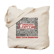 Family Square Brain Tumor Tote Bag