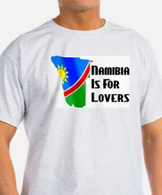 Namibia Is For Lovers Ash Grey T-Shirt