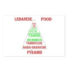Lebanese Food Pyramid Postcards (Package of 8)