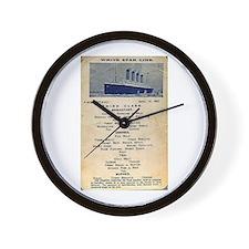 3rd Class Daily Menu Wall Clock