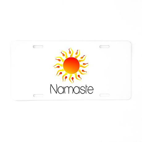 Namaste Sun 3 Aluminum License Plate