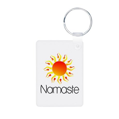 Namaste Sun 3 Aluminum Photo Keychain
