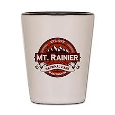 Mt. Rainier Crimson Shot Glass