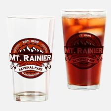 Mt. Rainier Crimson Drinking Glass