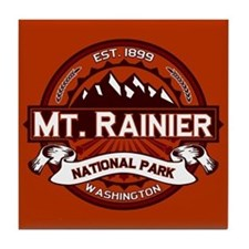 Mt. Rainier Crimson Tile Coaster