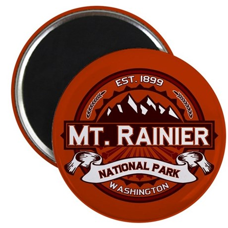 Mt. Rainier Crimson Magnet