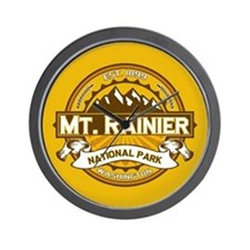 Mt. Rainier Goldenrod Wall Clock
