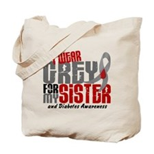 I Wear Grey 6 Diabetes Tote Bag