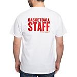 HoopTactics Basketbal Staff White T-Shirt