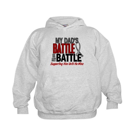 My Battle Too Brain Cancer Kids Hoodie