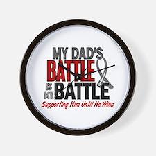 My Battle Too Brain Cancer Wall Clock