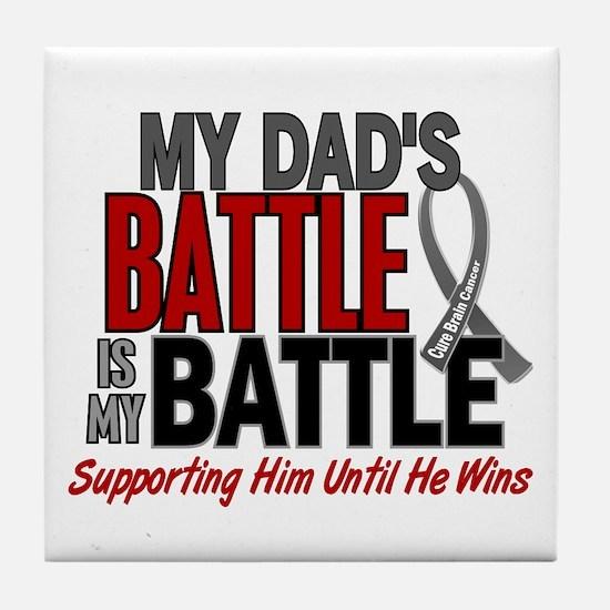 My Battle Too Brain Cancer Tile Coaster
