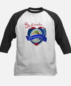 Belizean Princess Kids Baseball Jersey