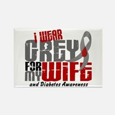 I Wear Grey 6 Diabetes Rectangle Magnet