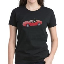 Cat in Red Car Tee