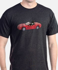 Cat in Red Car T-Shirt