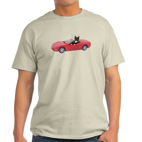 Cat in Red Car Light T-Shirt