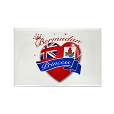 Bermudan Princess Rectangle Magnet