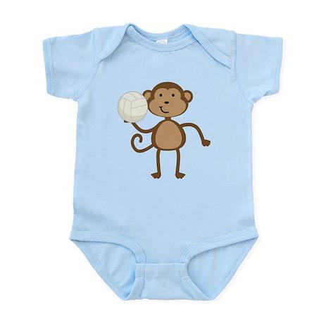 Volleyball Monkey Infant Bodysuit