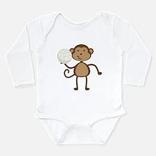 Volleyball Monkey Long Sleeve Infant Bodysuit