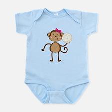 Volleyball Monkey Girl Infant Bodysuit
