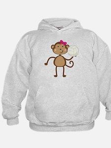 Volleyball Monkey Girl Hoodie