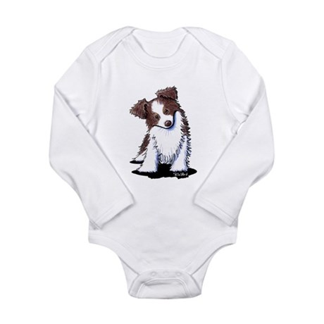 Red Australian Shepherd Long Sleeve Infant Bodysui