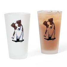Red Australian Shepherd Drinking Glass