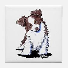 Red Australian Shepherd Tile Coaster
