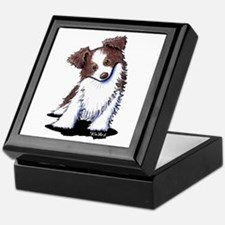 Red Australian Shepherd Keepsake Box