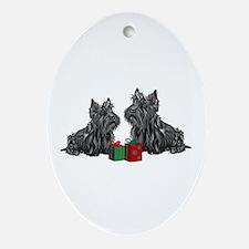 Scottie Christmas Oval Ornament