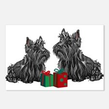 Scottie Christmas Postcards (Package of 8)