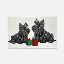 Scottie Christmas Rectangle Magnet