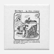 Too Embarrassed Tile Coaster