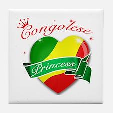 Congolese Princess Tile Coaster