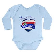 Costa rican Princess Long Sleeve Infant Bodysuit