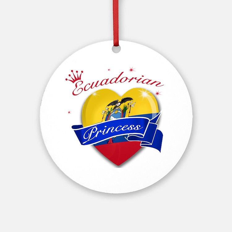 Ecuadorian Princess Ornament (Round)