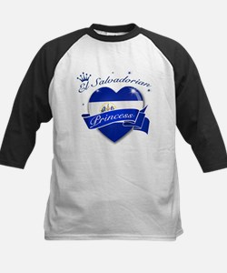 El Salvadorian Princess Kids Baseball Jersey