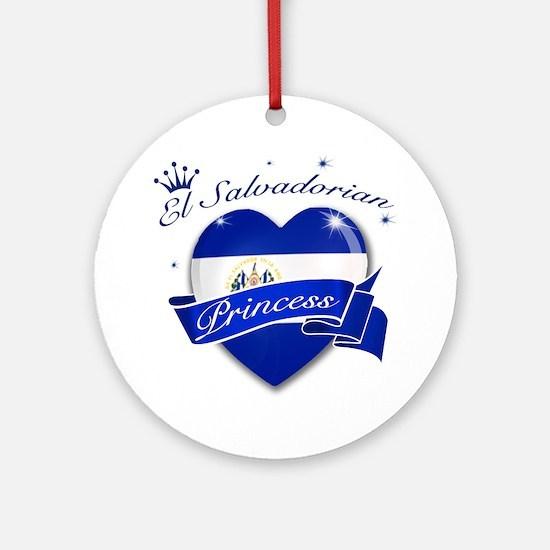 El Salvadorian Princess Ornament (Round)