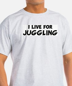 Live For JUGGLING Ash Grey T-Shirt