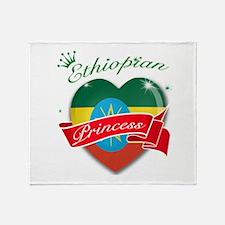 Ethiopian Princess Throw Blanket