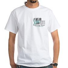 I Wear Teal White 10 Cervical Cancer Shirt