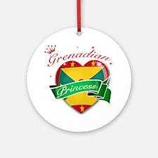 Grenadian Princess Ornament (Round)