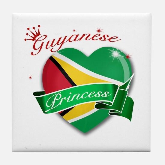 Guyanese Princess Tile Coaster