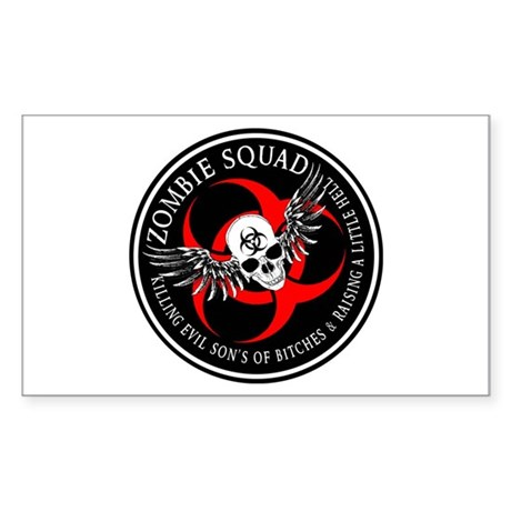 Zombie Squad 2 Ring Patch Rev Sticker (Rectangle)