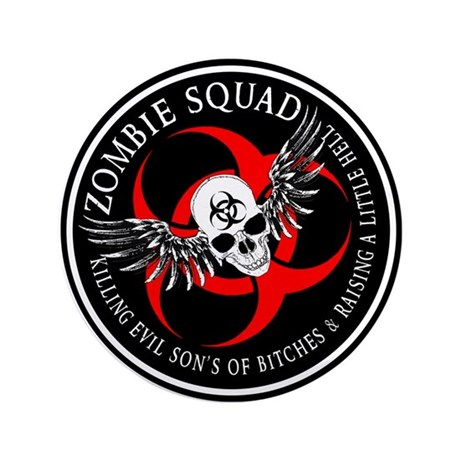 """Zombie Squad 2 Ring Patch Rev 3.5"""" Button"""